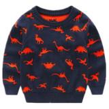 Toddler Kids Boy Dinosaurs Wool Pullover Sweater Warm Top