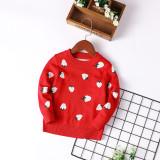 Toddler Kids Girl Strawberries Wool Pullover Sweater