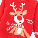 Toddler Girl Cartoon Christmas Deer Knit Pullover Sweater