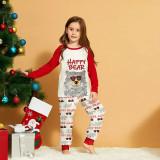 KidsHoo Exclusive Design Kids Toddler Cool Glasses Bear Christmas Sleepwear Pajamas Sets