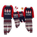 KidsHoo Exclusive Design Christmas Family Matching Sleepwear Pajamas Gnome Slogan Tops And Deer Printed Pants Pajamas Sets