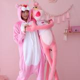 Kids Pink Panther Onesie Kigurumi Pajamas Animal Costumes for Unisex Children