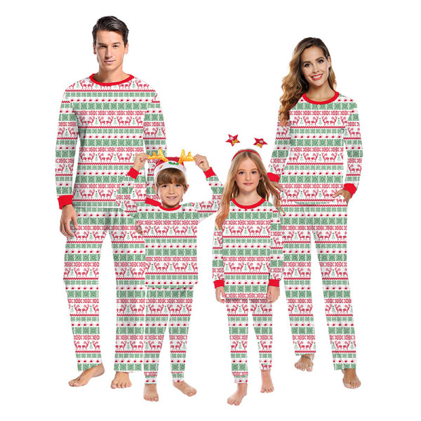 KidsHoo Exclusive Design Christmas Family Matching Sleepwear Pajamas Multielement Deer Printing Christmas Pajamas