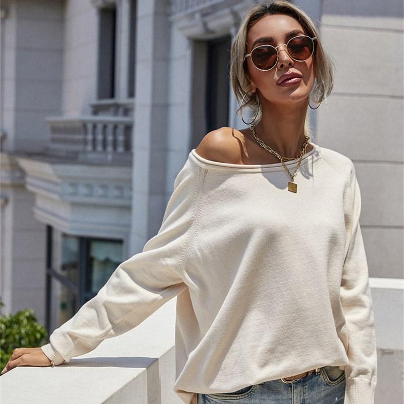 Women Causal Crew Round Neck Oversized Length Sweater
