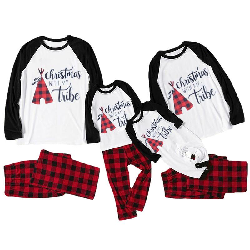 Christmas Family Matching Sleepwear Pajamas Christmas With My Tube Pajamas Sets