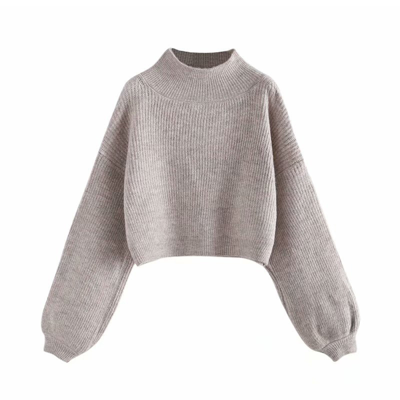Women Turtleneck Pullover Loose Knitted Jumper Oversized Sweaters Tops