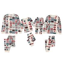 Christmas Family Matching Pajamas Christmas Knit Hook Weaving Snowflake Top And Pants
