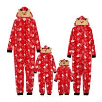 Christmas Family Matching Sleepwear Red Snowmans Snowflakes Onesie Jumpsuit Pajamas