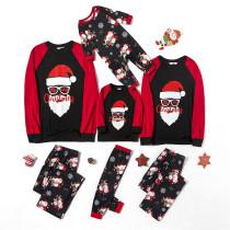 Christmas Family Matching Pajamas Merry Christmas Santas Black Pajamas Sets