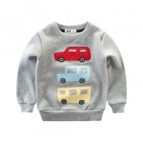 Cartoon Car Fleece Sweatershirt