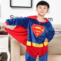 Kids Superman Onesie Kigurumi Pajamas Kids Animal Costumes for Unisex Children