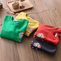 Toddler Boys Print Multicolor Candy Pullover Fleece Sweatershirt
