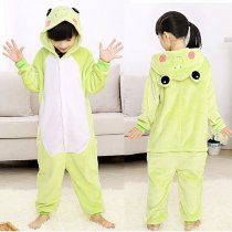 Kids Green Frog Onesie Kigurumi Pajamas Kids Animal Costumes for Unisex Children