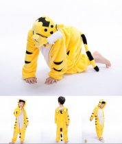 Kids Yellow Tiger Onesie Kigurumi Pajamas Kids Animal Costumes for Unisex Children