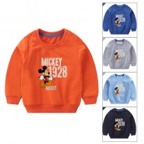 Toddler Boy Print Cartoon Mickey Long Sleeve Sweatshirt