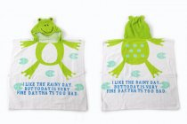 Baby Green Frog Face Hooded Bathrobe Towel Bathrobe Cloak