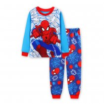 Toddler Boy 2 Pieces Pajamas Sleepwear Spider Man Long Sleeve Shirt & Leggings Set