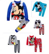 Toddler Boy 2 Pieces Pajamas Sleepwear Mickey Long Sleeve Shirt & Leggings Set