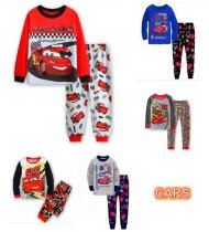 Toddler Boys 2 Pieces Pajamas Sleepwear CARS Long Sleeve Shirt & Leggings Set