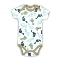 Baby Boy Print Dinosaurs Short Sleeve Cotton Bodysuit