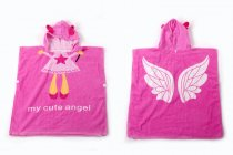 Baby Pink Angel Face Hooded Bathrobe Towel Bathrobe Cloak