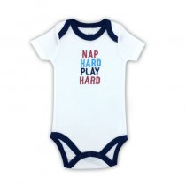 Baby Boy Print Hard Slogan Short Sleeve Cotton Bodysuit