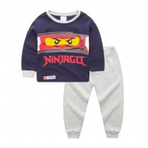 Toddler Boy 2 Pieces Pajamas Sleepwear Lego Ninjago Long Sleeve Shirt & Legging Sets