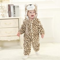 Baby Yellow Leopard Onesie Kigurumi Pajamas Kids Animal Costumes for Unisex Baby