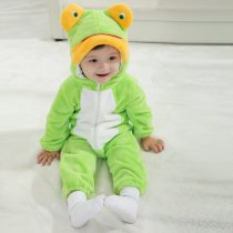 Baby Green Frog Onesie Kigurumi Pajamas Kids Animal Costumes for Unisex Baby