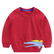 Toddler Boy Print Crocodiles Long Sleeve Sweatshirt