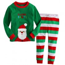 Toddler Boy 2 Pieces Pajamas Sleepwear Christmas Long Sleeve Shirt & Leggings Set
