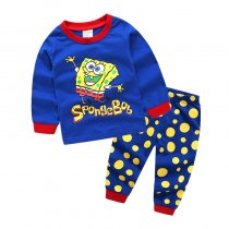 Toddler Boy 2 Pieces Pajamas Sleepwear SpongeBob Long Sleeve Shirt & Legging Sets