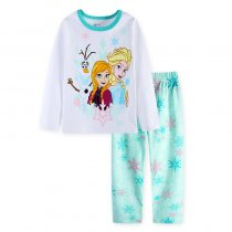 Toddler Girl 2 Pieces Pajamas Sleepwear Snow White Long Sleeve Shirt & Leggings Set