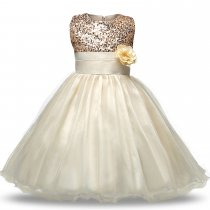 Girl Sequins Tulle Flower Princess Dresses