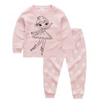 Toddler Girl 2 Pieces Pajamas Sleepwear Ballet Girl Long Sleeve Shirt & Legging Sets