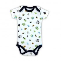 Baby Boy Print Owls Short Sleeve Cotton Bodysuit