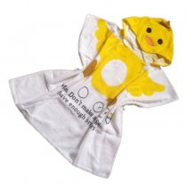 Baby Yellow Duck Face Hooded Bathrobe Towel Bathrobe Cloak