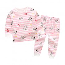Toddler Girl 2 Pieces Pajamas Sleepwear Pig Long Sleeve Shirt & Legging Sets