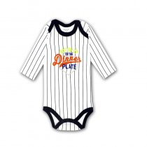 Baby Boy Stripes Print Slogan Long Sleeve Cotton Bodysuit
