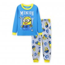 Toddler Boy 2 Pieces Pajamas Sleepwear Minions Long Sleeve Shirt & Leggings Set