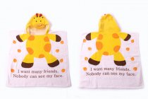 Baby Yellow Giraffe Face Hooded Bathrobe Towel Bathrobe Cloak