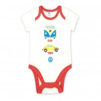 Baby Boy Print Two Cars Short Sleeve Cotton Bodysuit