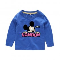 Boys Print Mickey Long Sleeves Tee