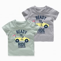 Boys Prints Racing Champion Car T-shirt