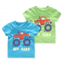 Boys Prints Cartoon Cars T-shirt
