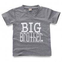 Boys Print Big Brother T-shirts
