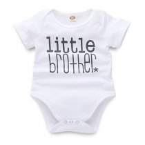 Baby Boy Prints Short Sleeves Cotton Bodysuit