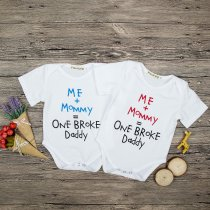 Baby Boy White Slogan Bodysuit