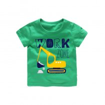Boys Prints Mechanical Digger T-shirts
