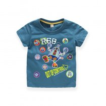 Boys Prints Cartoon Robot T-shirts
